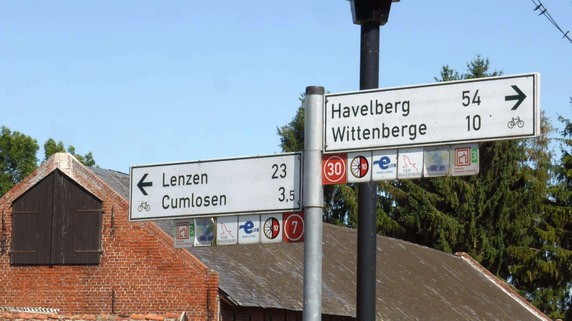 sieciowe oznakowanie szlaków w Niemczech