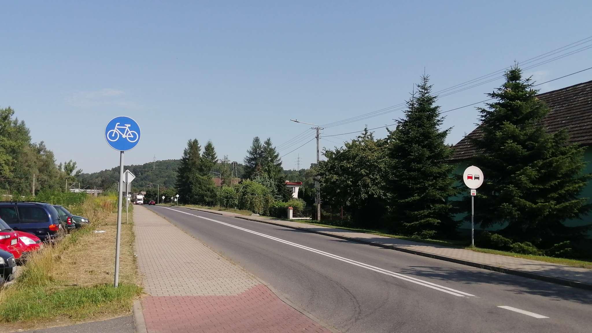 Droga tylko dla rowerów na ul. Frysztackiej