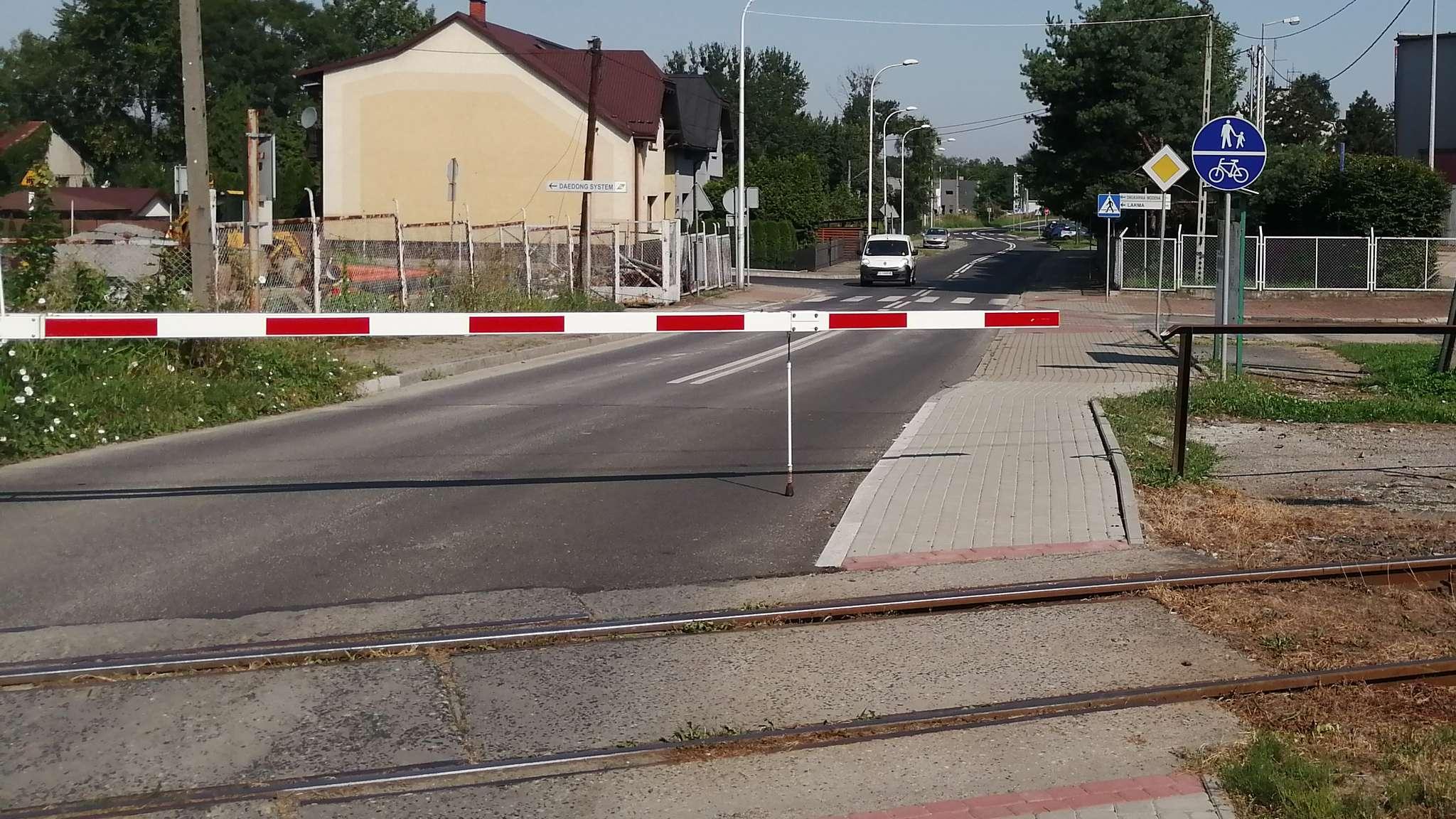 Przejazd kolejowy na ul. Łącznej