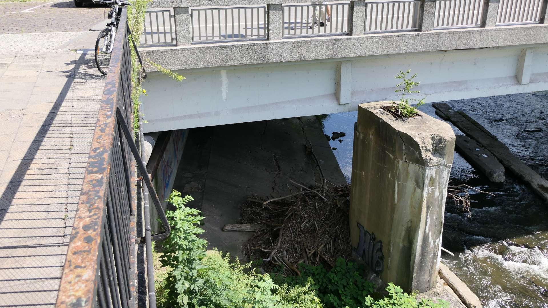 Niewykorzystana przestrzeń pod mostem Przyjaźni.
