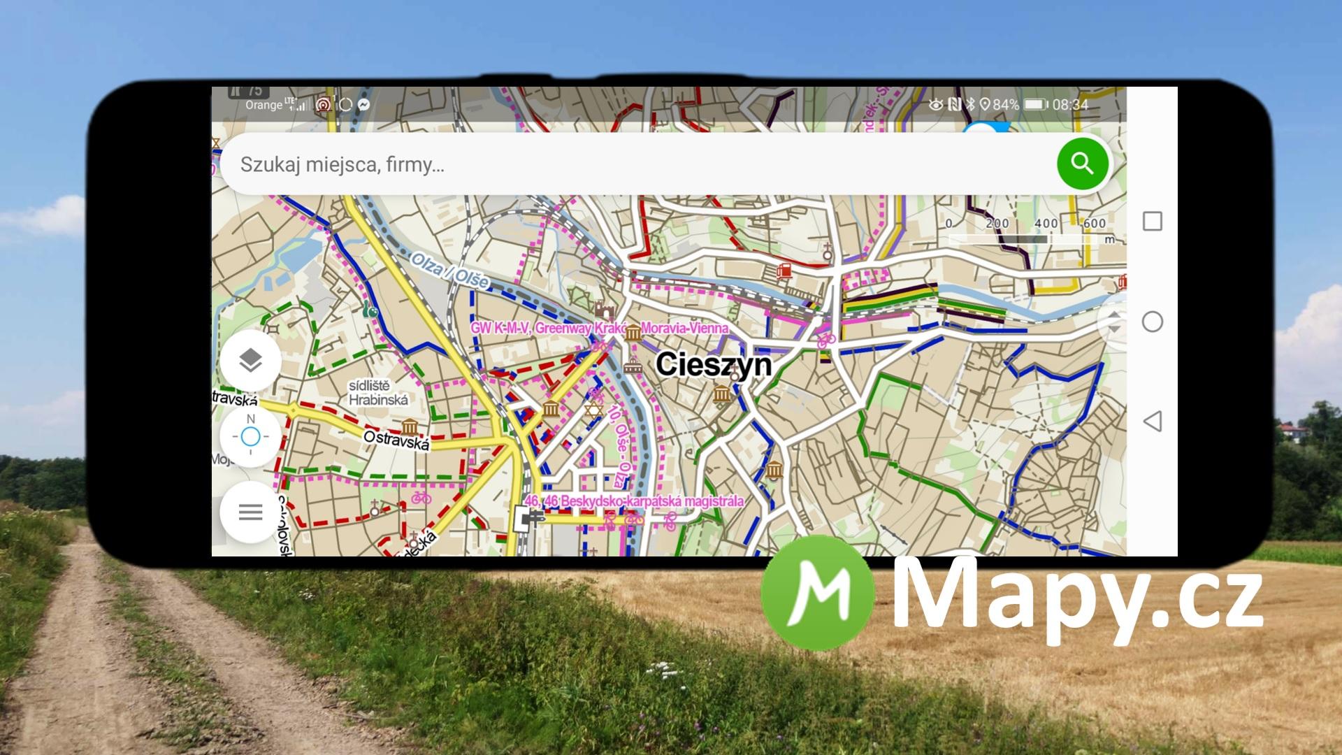 Mapy.cz - nawigacja dla rowerzystów nie tylko w Czechach