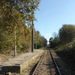 Nieistniejący już stary peron w Bażanowicach.