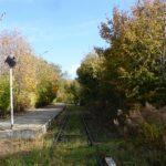 Nieistniejący już peron stacji w Goleszowie. Widok od strony Cieszyna.