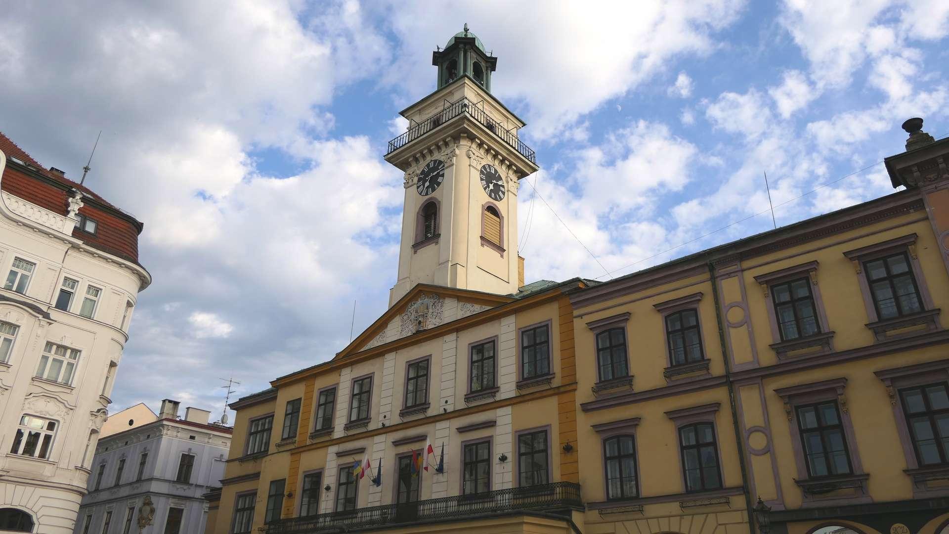 Budynek ratusza w Cieszynie.