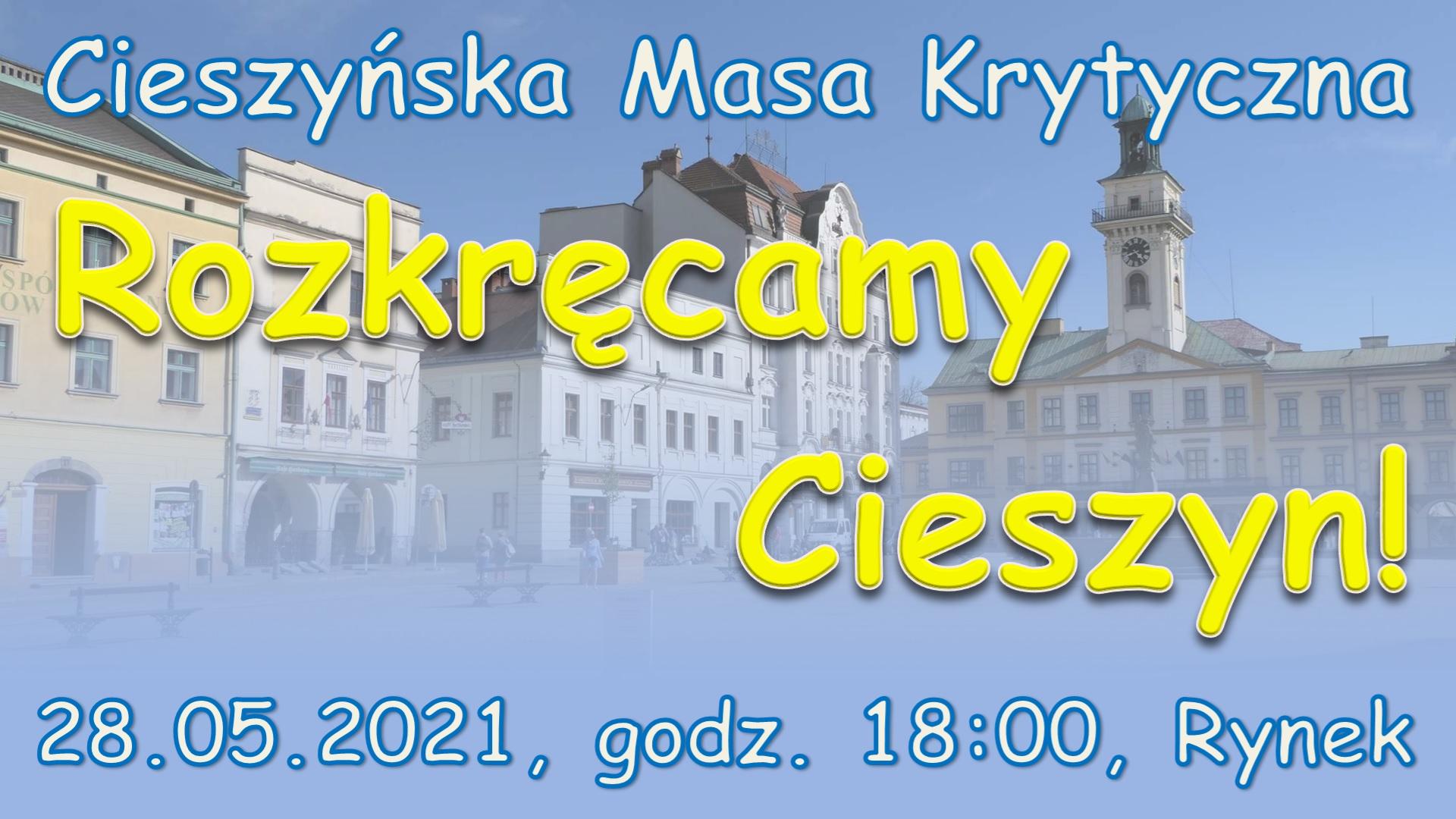 Zaproszenie na rowerową masę krytyczną w Cieszynie - maj 2021